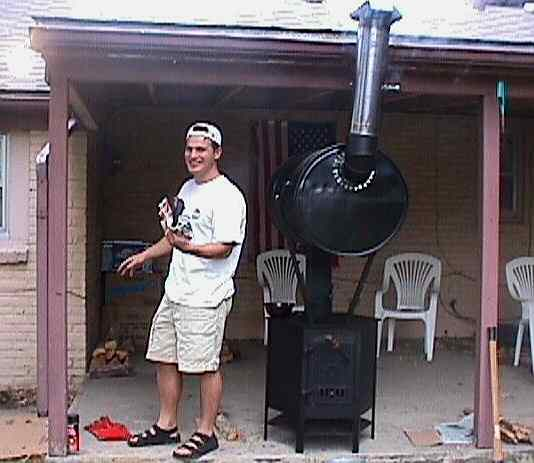 Chris Trojanovich with The Smoker,  10/2000.